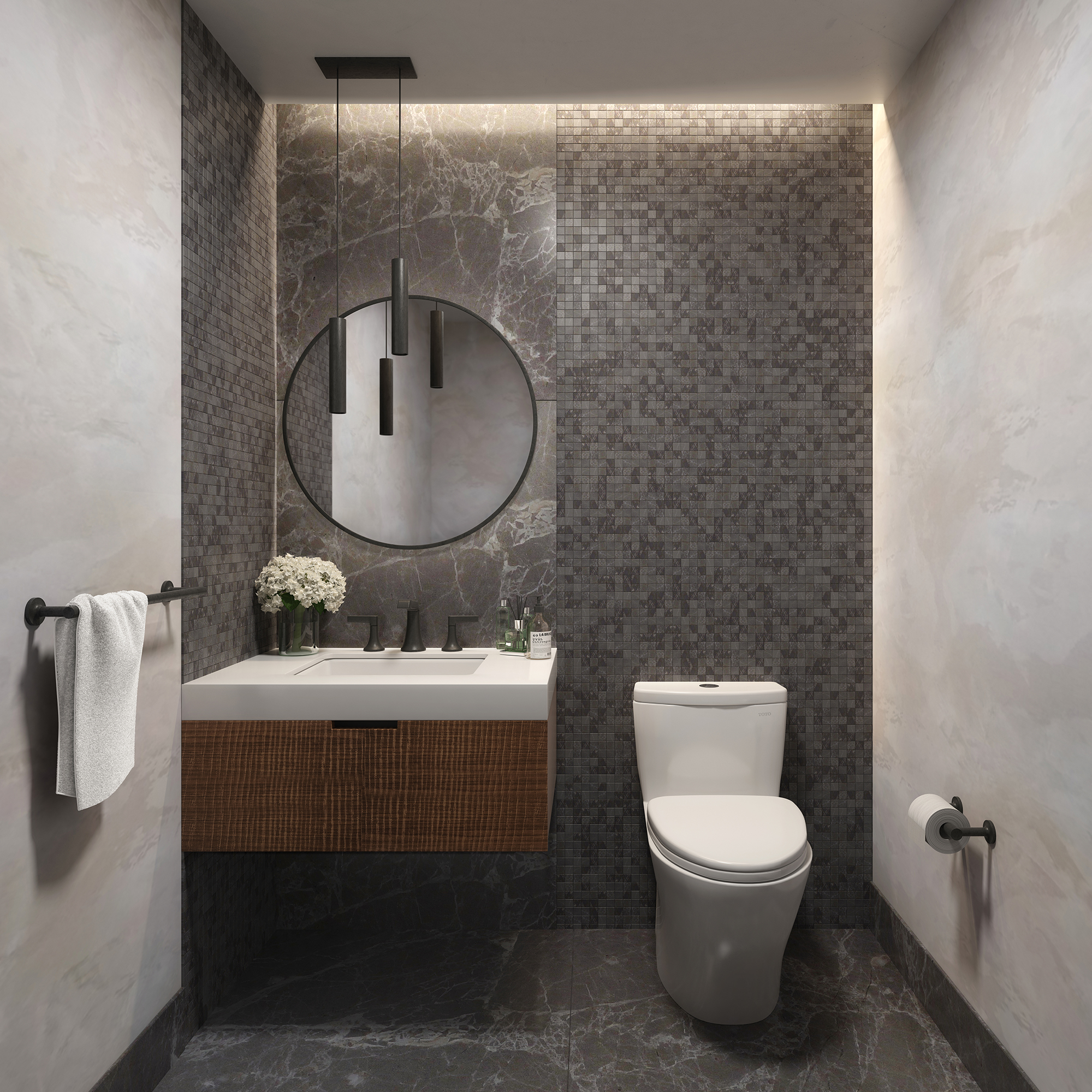 Guest Powder Room (in select apartments)